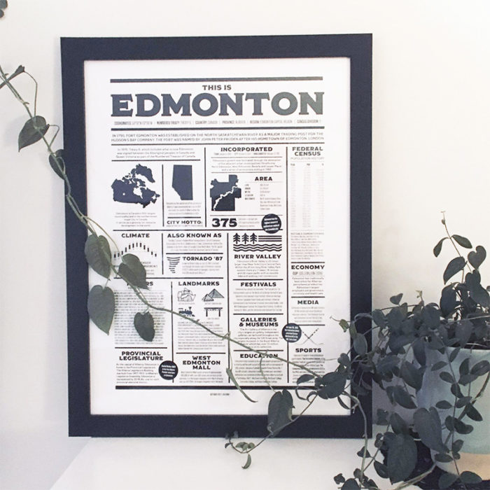 This is Edmonton Poster Hotel Design Co - Explore Edmonton - Made in Edmonton - Ultimate Gift Guide Linda Hoang