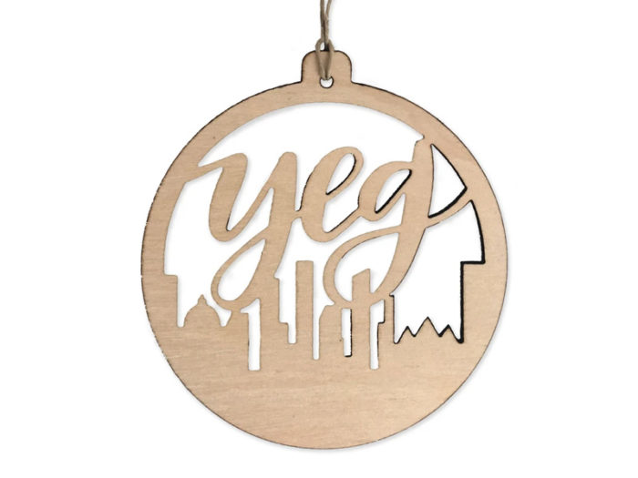 YEG Edmonton Holiday Ornament - Explore Edmonton - Made in Edmonton - Ultimate Gift Guide Linda Hoang