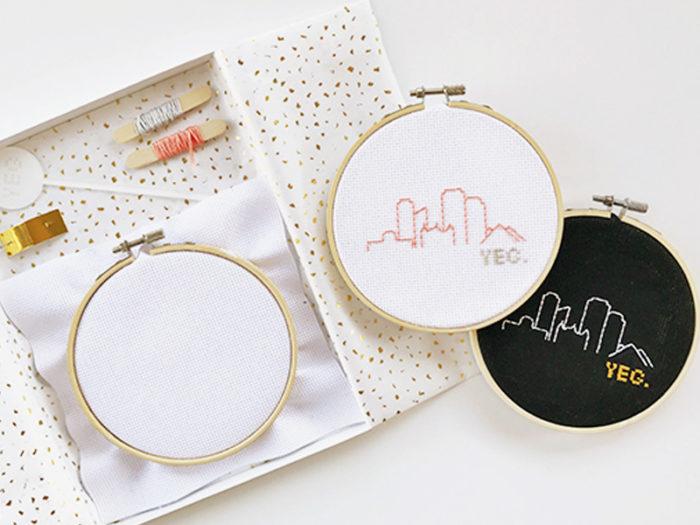 YEG Skyline Stitch Craft Kit - Explore Edmonton - Made in Edmonton - Ultimate Gift Guide Linda Hoang
