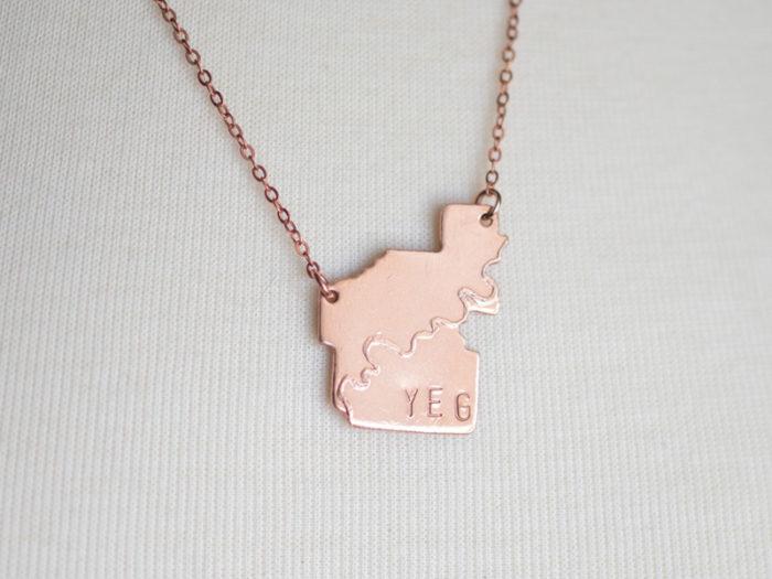 YEGLace Edmonton Necklace Smithstine Copper - Explore Edmonton - Made in Edmonton - Ultimate Gift Guide Linda Hoang
