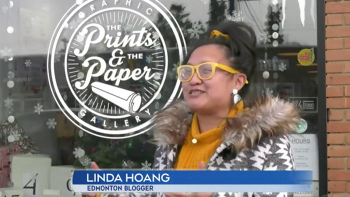 CTV Edmonton - Adopt a Shop ATB Neighbourhood. Hop - Linda Hoang