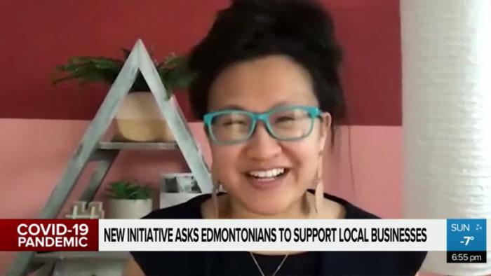 CityNews Edmonton - Adopt a Shop ATB Neighbourhood. Hop - Linda Hoang