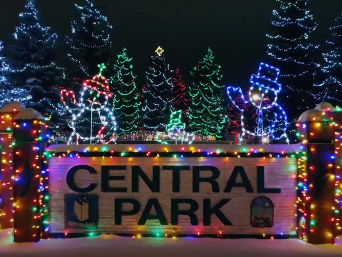 Free Festive Outdoor Light Experiences - Christmas Lights - Edmonton Area - Spruce Grove Parkland County Central Park