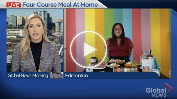 Global Edmonton Morning Show - Holiday Feast Four Course Meal at Home - Edmonton Alberta - Linda Hoang