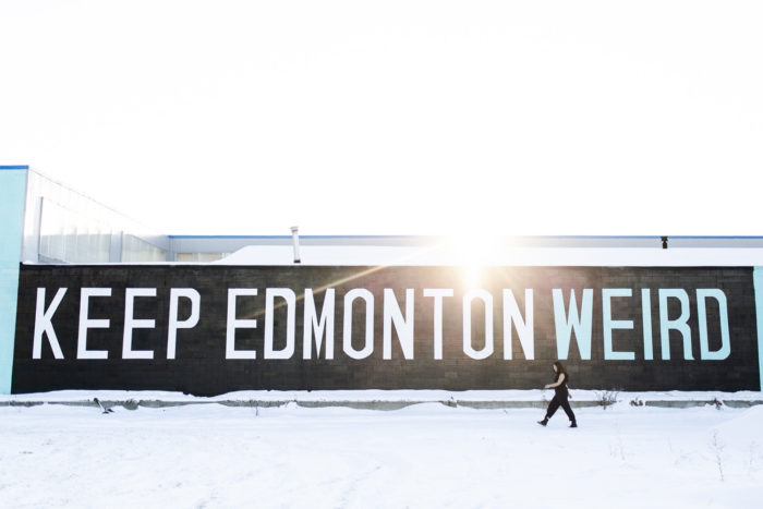 Keep Edmonton Weird - Stadium Yards - Explore Edmonton - Instagrammable Walls of Edmonton - Travel Alberta