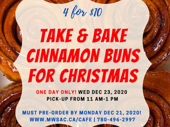Mill Woods Seniors Association - Holiday Christmas Cinnamon Buns - Edmonton