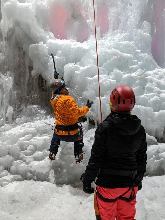 Ice Climbing - Explore Edmonton - ACC Edmonton Ice Wall - Edmonton Ski Club - Alpine Club of Canada - Travel Alberta - Winter City