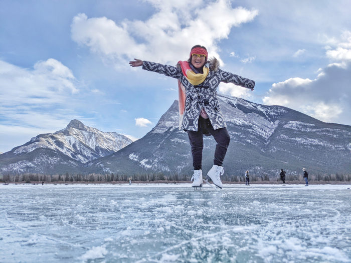 Ice Skating Kananaskis Country Explore Alberta Canmore Rocky Mountains Bubble Lake Gap Lake