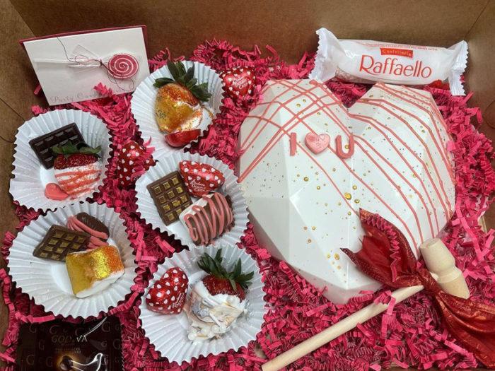Smashing Hearts - Smash Cakes - Valentines Day - Romantic - Explore Edmonton - Food - Sweet Treats