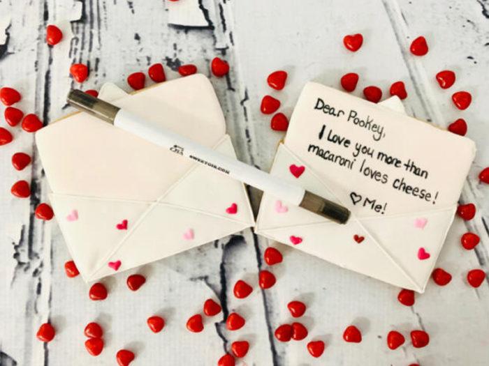 Sweet Gis - Love Letter Cookie Colouring Kit - Valentines Day - Romantic - Explore Edmonton - Food - Sweet Treats