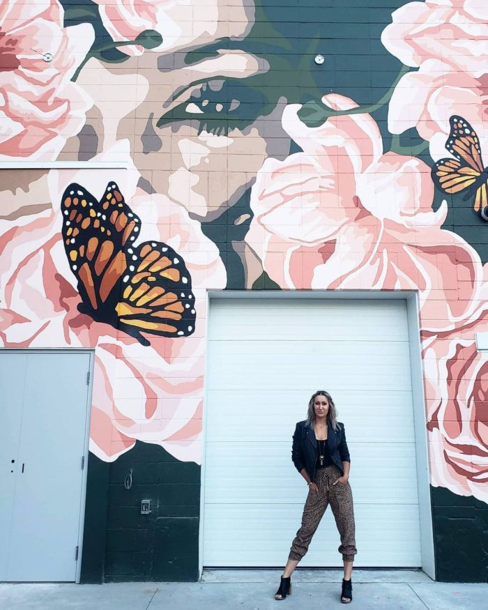 The Lady of Manchester square - Alixandra Jade Artist - Instagrammable Walls of Edmonton