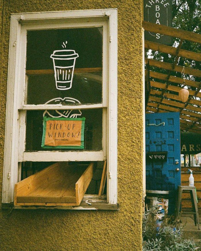 Farrow Sandwich - Takeout Window Chute - Explore Edmonton - Businesses Pivoting Changes Innovation during Pandemic