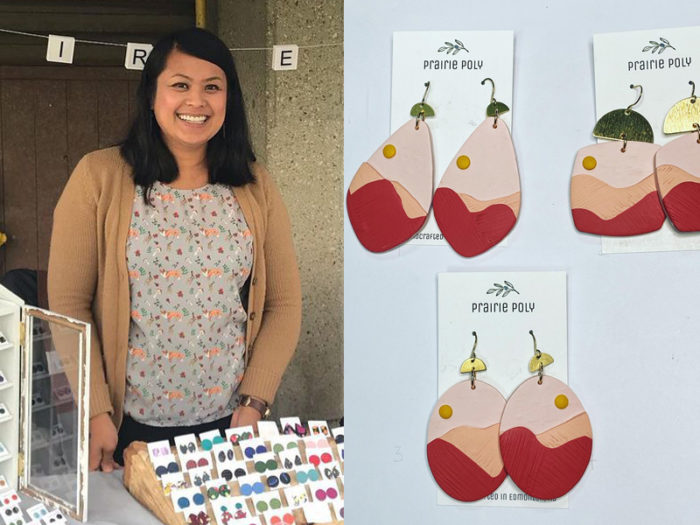 Marion Mendoza - Prairie Poly Earrings - 41 Edmonton Area Women Artists Makers Creators Business Owners - Explore Edmonton