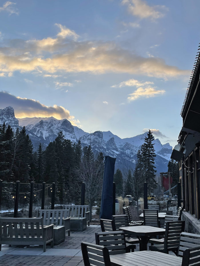 Explore Canmore Kananaskis - Travel Alberta - Town of Canmore - Canmore Uncorked Festival - The Stirling Lounge Patio Malcolm Hotel 3