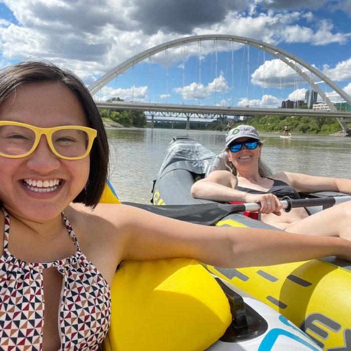 Floating Kayaking Water Activities on the North Saskatchewan River Edmonton - Explore Edmonton - Travel Alberta - Bask on the Sask 3