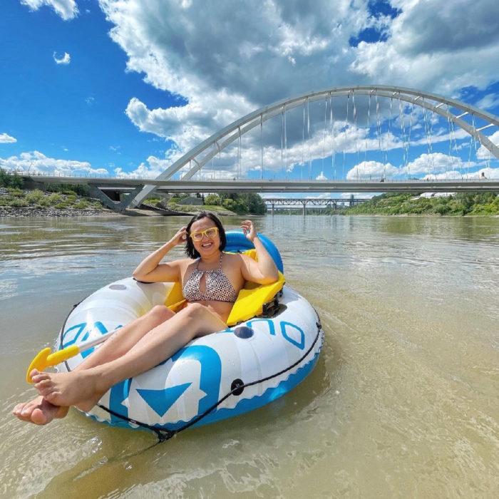 Floating Kayaking Water Activities on the North Saskatchewan River Edmonton - Explore Edmonton - Travel Alberta - Bask on the Sask 4