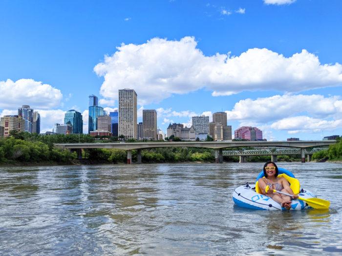 Floating Kayaking Water Activities on the North Saskatchewan River Edmonton - Explore Edmonton - Travel Alberta - Bask on the Sask 6