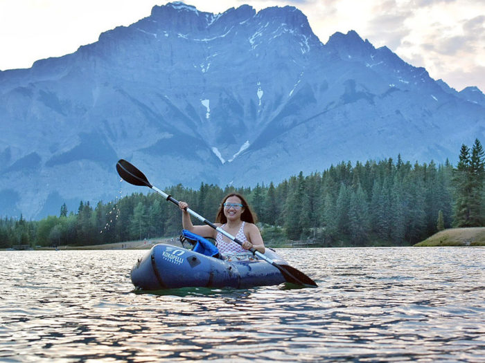 Floating Kayaking Water Activities on the North Saskatchewan River Edmonton - Explore Edmonton - Travel Alberta - Bask on the Sask - Banff National Park