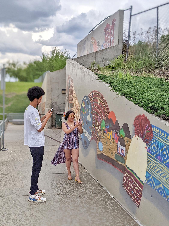 Paint the Rails - The John Humphrey Centre - Explore Edmonton Murals Art Project 10