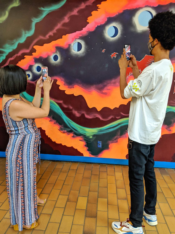 Paint the Rails - The John Humphrey Centre - Explore Edmonton Murals Art Project 11