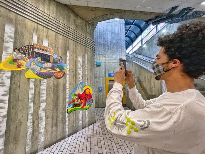 Paint the Rails - The John Humphrey Centre - Explore Edmonton Murals Art Project 15