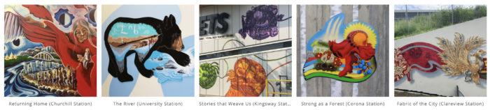 Paint the Rails - The John Humphrey Centre - Explore Edmonton Murals Art Project 9