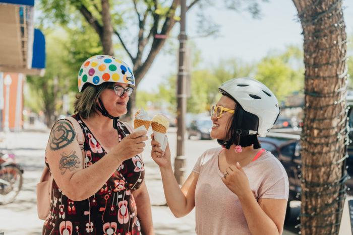 Biking Edmonton - Bike Alberta - Explore Canada - Explore Edmonton - ZenSeekers - Cycling in the City - Edmonton Food Landmarks Neighbourhoods - Old Strathcona - Whyte Ave - Yelod Ice Cream - 3