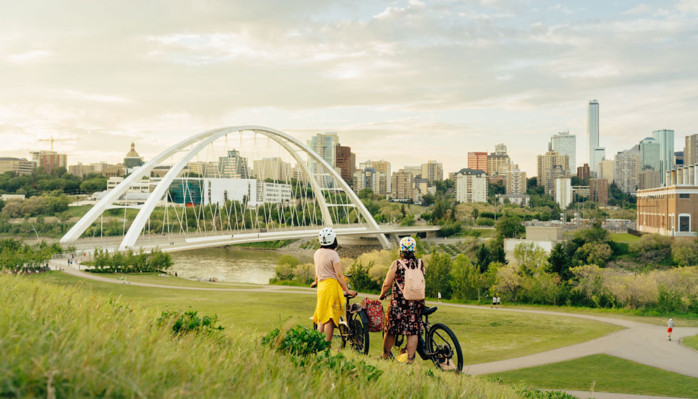 Biking Edmonton - Bike Alberta - Explore Canada - Explore Edmonton - ZenSeekers - Cycling in the City - Edmonton Food Landmarks Neighbourhoods - River Valley Walterdale Bridge Hill 2