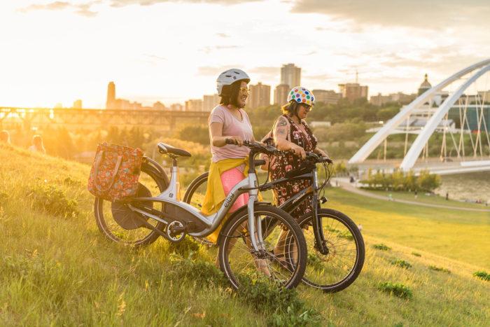 Biking Edmonton - Bike Alberta - Explore Canada - Explore Edmonton - ZenSeekers - Cycling in the City - Edmonton Food Landmarks Neighbourhoods - River Valley Walterdale Bridge Hill