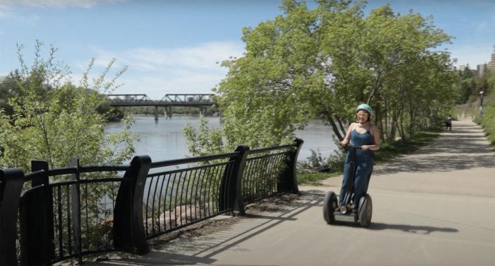 Explore Edmonton - Travel Alberta - Wheeling Around Edmonton - River Valley Adventure Co Segway Rentals River Valley