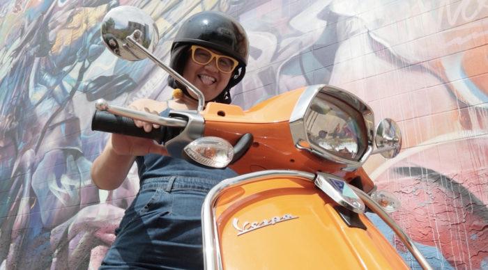 Explore Edmonton - Travel Alberta - Wheeling Around Edmonton - VespaYEG Rentals Downtown