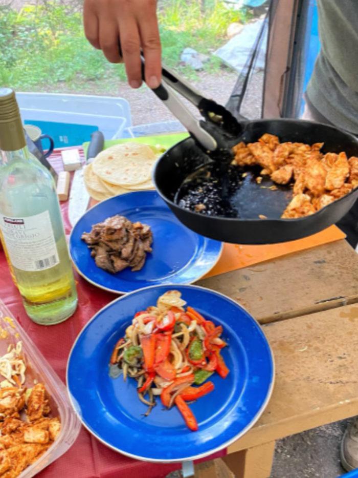 Chicken Tacos - Alberta Camping - sloanezw