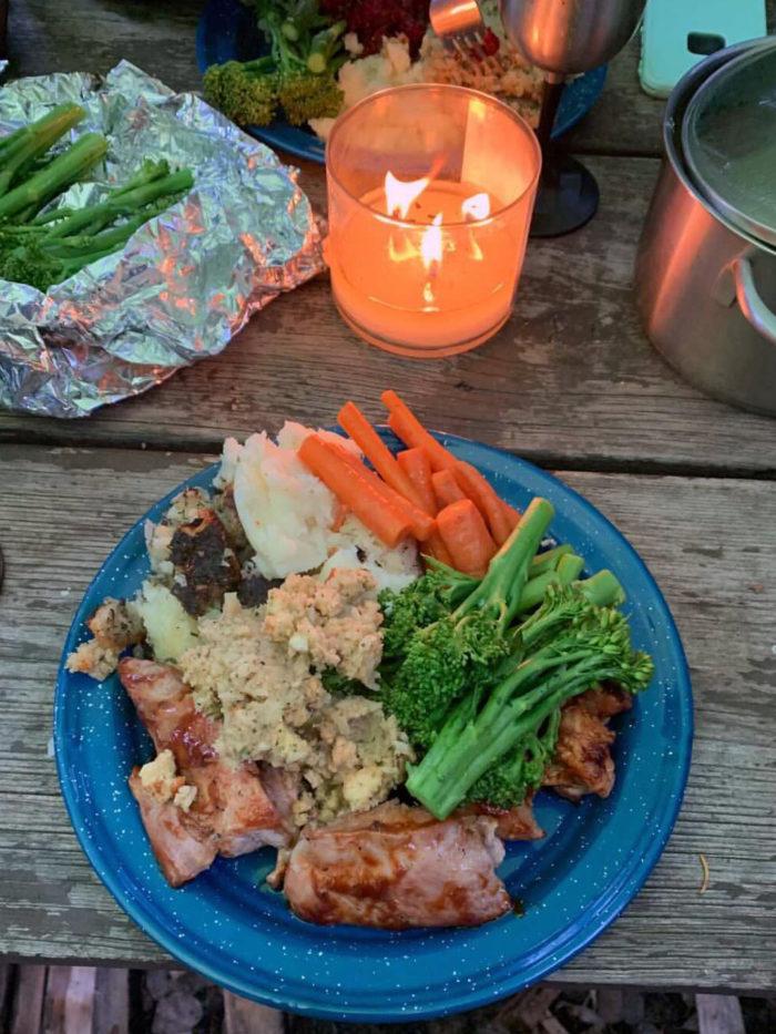 Thanksgiving Dinner - Alberta Camping - greatgramsofgary
