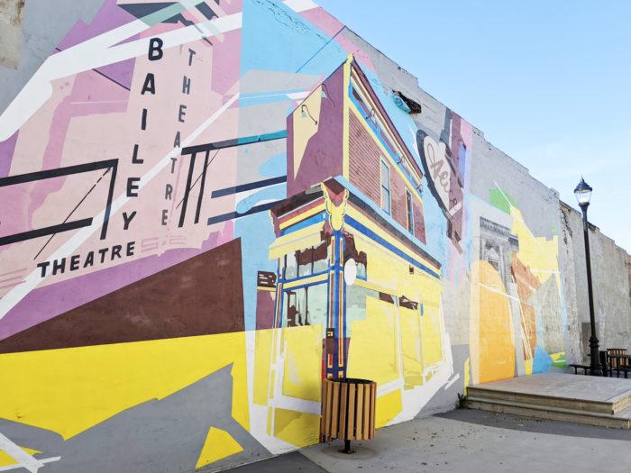 Explore Camrose - Go East of Edmonton - City of Camrose - Explore Alberta - Travel - Day Trip - Downtown Camrose - The Lions Centennial Park Instagramable Wall Mural Art 3