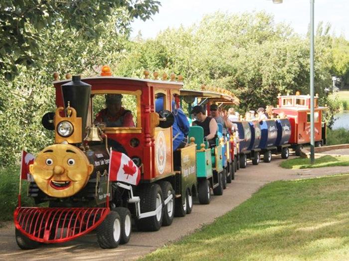 Explore Camrose - Go East of Edmonton - City of Camrose - Explore Alberta - Travel - Day Trip - Mirror Lake Train