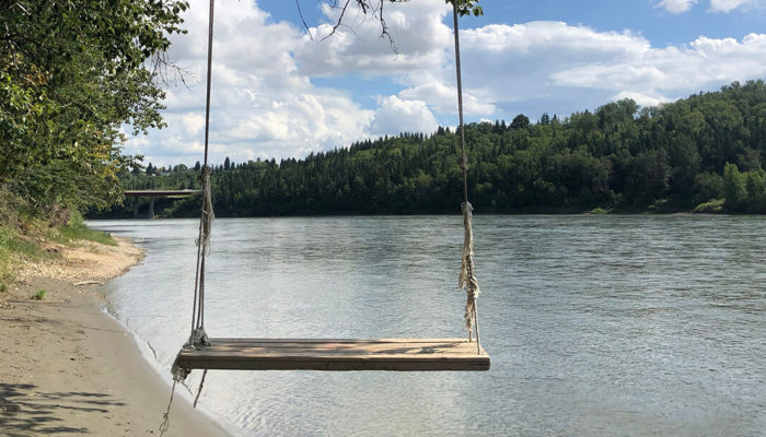 Explore Edmonton River Valley Swing Highlands Kinnaird Park