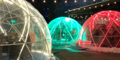 Explore Edmonton - Downtown Winter Patio Igloos - Domes